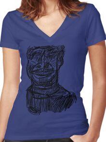 DABNOTU_2010-03-12 Women's Fitted V-Neck T-Shirt