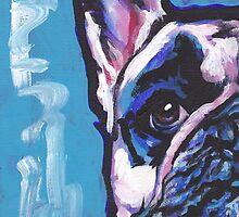French Bulldog Dog Bright colorful pop dog art by bentnotbroken11