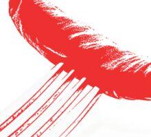 red chili fork Sticker