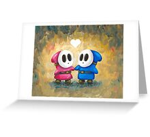 Shy Guys in Love! Greeting Card