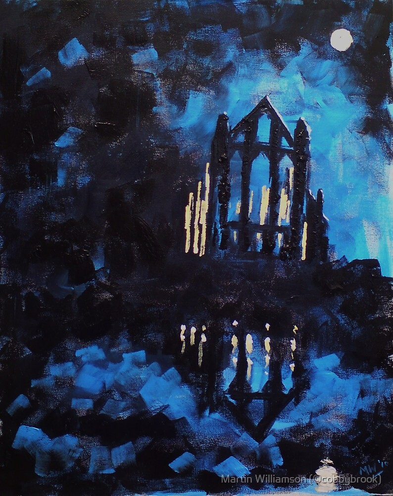 'Whitby Abbey' by Martin Williamson (©cobbybrook)