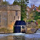 Warwick Castle Power House With Water Wheel by Nigel Donald