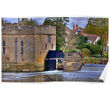 Warwick Castle Power House With Water Wheel Poster