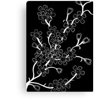 Blossoms Inversed Canvas Print