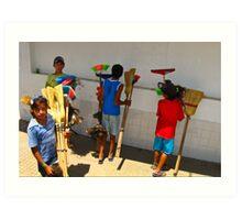 Broom Salesmen - Argentina Art Print