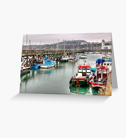 The Harbour ~ Scarborough Greeting Card