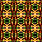Tribal Visions Abstract Pattern 6 by Leah McNeir