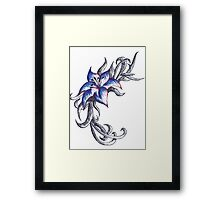 Coloured pen flower Framed Print