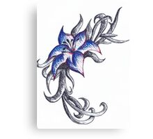 Coloured pen flower Canvas Print