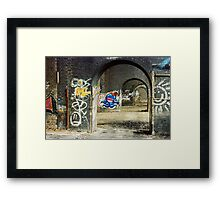 Happy Blue Squid Framed Print
