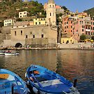 Boats in Riomaggiore, Cinque Terre, Italy by Tom Grieve