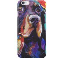 Gordon Setter Dog Bright colorful pop dog art iPhone Case/Skin