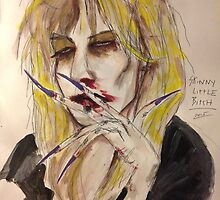 Courtney Love Illustration  by GLJones