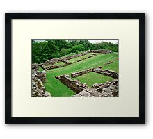 Roman Fort along hadrian's Wall Framed Print