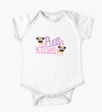 Pugs & Kisses Logo One Piece - Short Sleeve