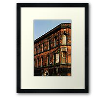 Manchester's Textile past Framed Print