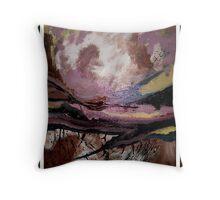 abstract landscape- Final Destination Throw Pillow
