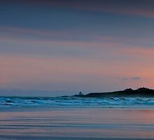 Sunrise over Bamburgh Castle, Northumberland by David Lewins