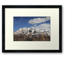The Mighty Wastach Mountains Framed Print