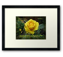 Supplication - Psalm 86 Framed Print
