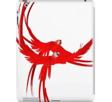 red parrots iPad Case/Skin
