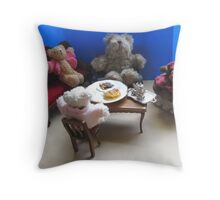 TEDDIES TEA TIME Throw Pillow