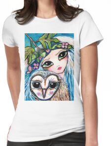 Owl Sprite by Sheridon Rayment Womens Fitted T-Shirt