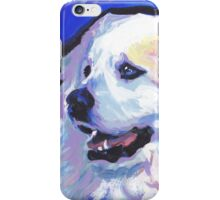 Great Pyrenees Mountain Dog Bright colorful pop dog art iPhone Case/Skin