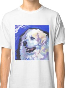 Great Pyrenees Mountain Dog Bright colorful pop dog art Classic T-Shirt