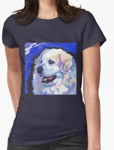 Great Pyrenees Mountain Dog Bright colorful pop dog art Womens Fitted T-Shirt