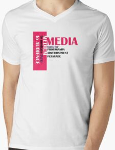 media Mens V-Neck T-Shirt
