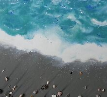 Cocoa Beach with Cocoa Beach Shells by LindaZArtist
