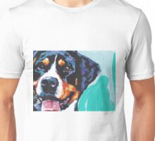 Greater Swiss Mountain Dog Bright colorful pop dog art Unisex T-Shirt