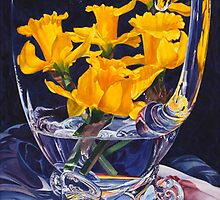 Daffodills in the Glass by soonywarren