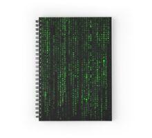 Matrix Pattern Spiral Notebook