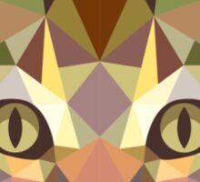 Geometric Cat Sticker