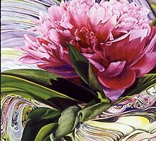 Peony and Glass by soonywarren