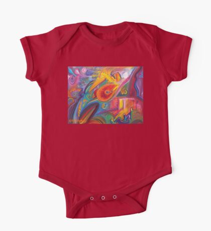 Lawlessness, An Abstract Oil Painting One Piece - Short Sleeve