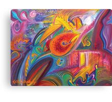 Lawlessness, An Abstract Oil Painting Canvas Print