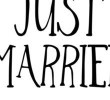 Just Married! Sticker