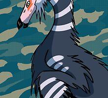 Jurassic June Therizinosaur by RedVioletShirts