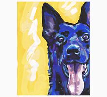 Black German Shepherd Bright colorful pop dog art Unisex T-Shirt
