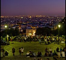 View from Montmarte at Night by zoopsia