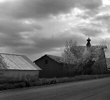 Deserted Row of Farm Buildings by Rob & Jenni Erickson
