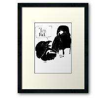 The Crow Calls the Raven Black Framed Print