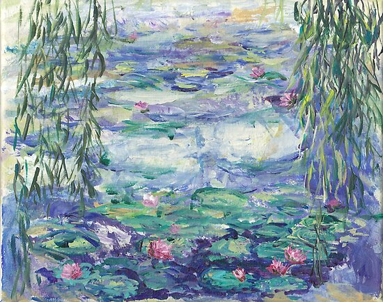 Lillies Over the Pond by Mary Sedici