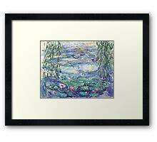 Lillies Over the Pond Framed Print