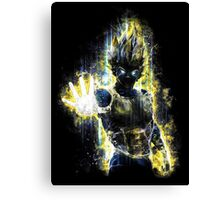 Dragon Ball Z Inspired Vegeta Epic Portrait Canvas Print