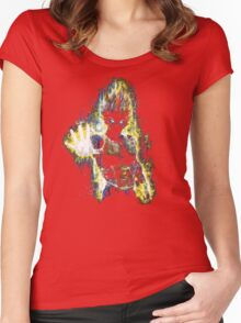 Epic Prince of Fighters Portrait Women's Fitted Scoop T-Shirt