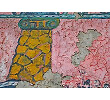 Crackled Surface on the Berlin Wall Photographic Print